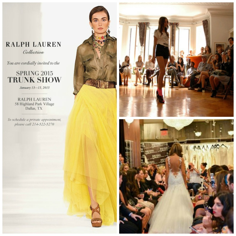 fashion preview, trunk show